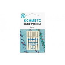 Иглы SCHMETZ с 2-мя ушками для декоративных работ 5-№80
