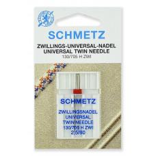 Иглы SCHMETZ стандартные двойные №80/2,5