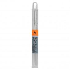 Крючок вязальный 2,50 мм/ 15 см, алюм. PONY