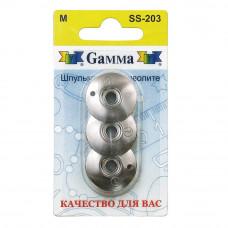 """Для вязания """"Gamma"""" шпульки для фриволите SS-203 3 шт в блистере металлические"""