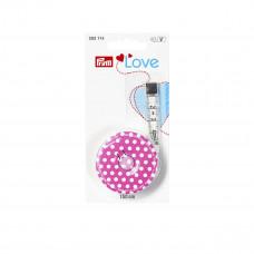 Рулетка портновская Prym Love 150см розовая