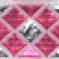 Декоративная лента 12мм роз/сер