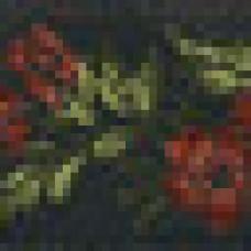 Декоративная лента 35мм черный/сирень
